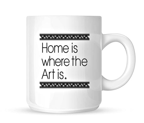 home is where the art is 11 oz coffee mug gift for art grad