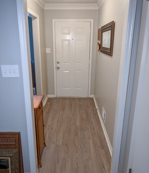 bare entryway before and after decorating ideas