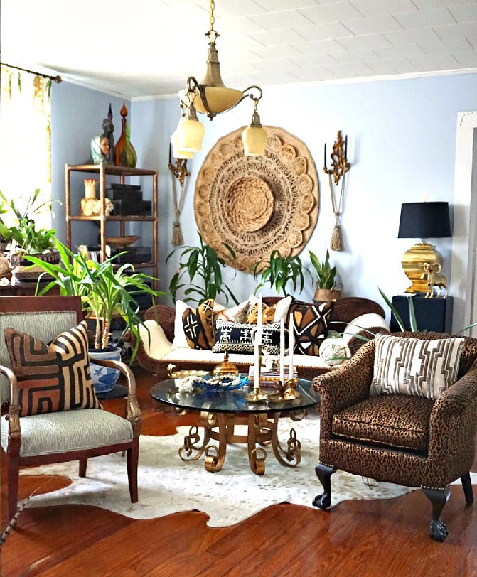 eclectic antique african living room decor blog