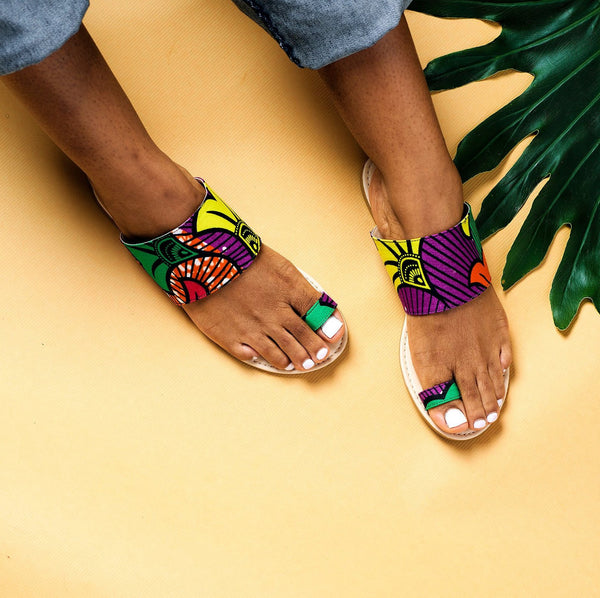 ankara african print fabric sandals afrocentric vacation travel accessories guide