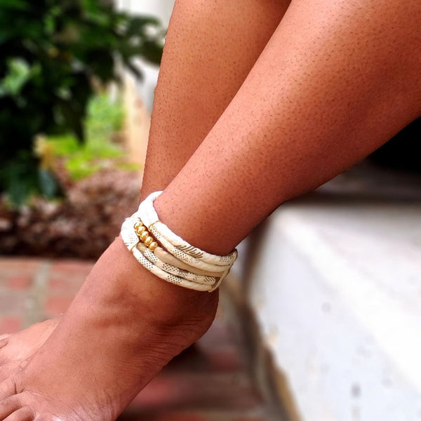 white african fabric ankle bracelet