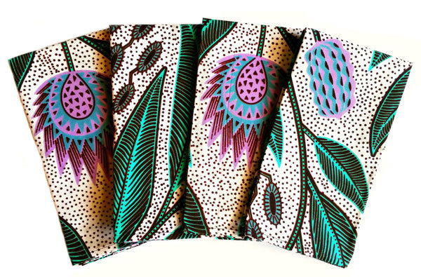 mint lilac african print fabric dinner napkins spring colors decor ideas ankara tableware