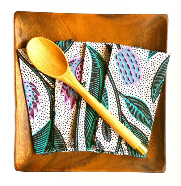 mint lilac african print fabric dinner napkins tableware mothers day holiday gift guide