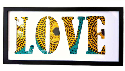 love african print fabric word art obika grad gift ideas