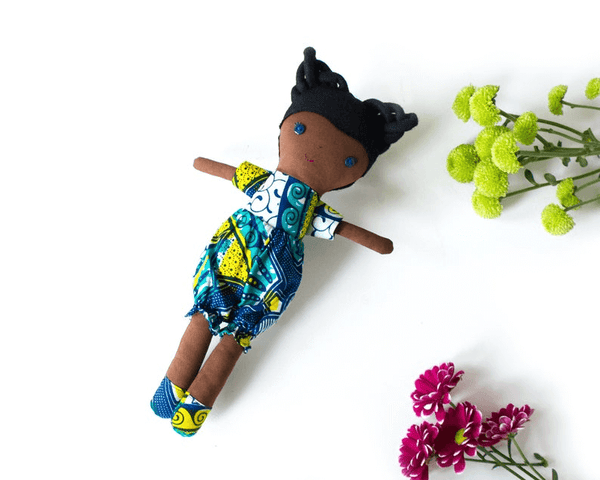 black girl doll african print fabric doll clothes shower gift ideas