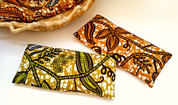 lavender eye pillow sachet set african print fabric mothers birthday gift ideas afrocentric
