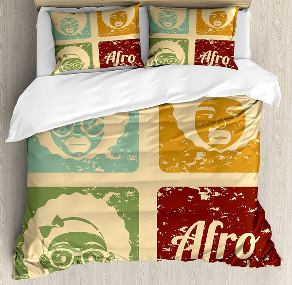 pop art afro dorm decor bedding set