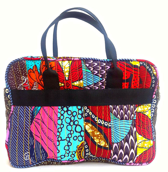 quilted african print fabric patchwork laptop bag