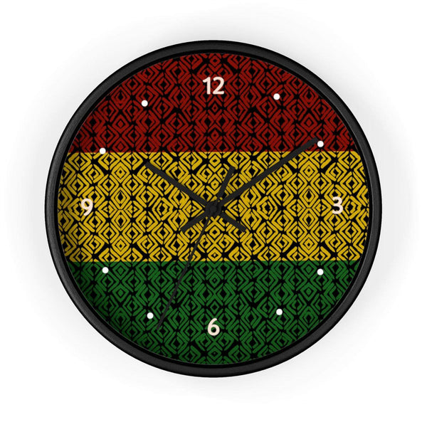 red black and green rasta wall clock dorm decor ideas
