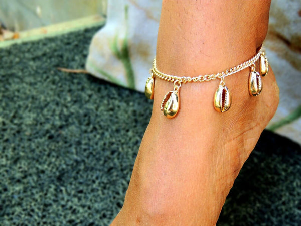 cowrie shell ankle bracelet mothers day gift guide holiday gift ideas sew sophistikated