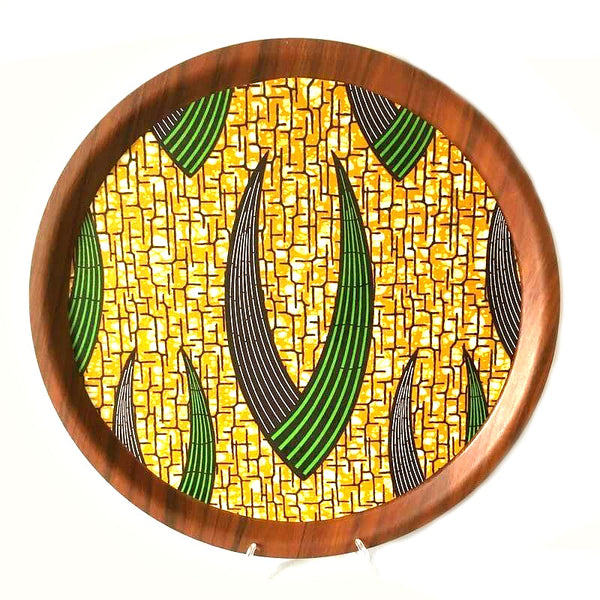 african print fabric serving tray wood ankara decor ideas entertaining spring