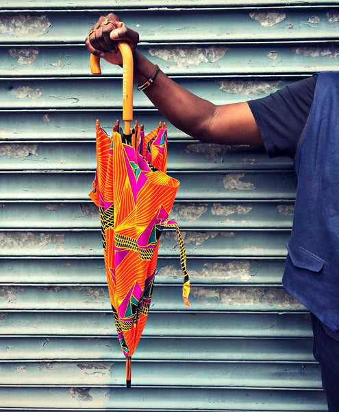 ankara african print fabric pattern umbrella
