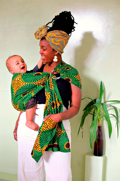 african print fabric baby carrier sling baby shower gift afrocentric idea