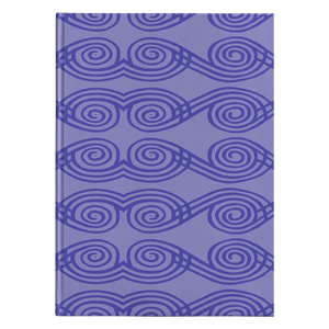 Purple African Pattern Hard Cover Journal Lined