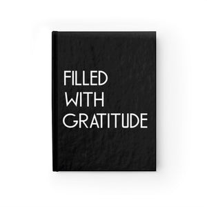 black gratitude journal hard cover lined