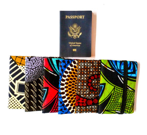African Print Fabric Passport Covers