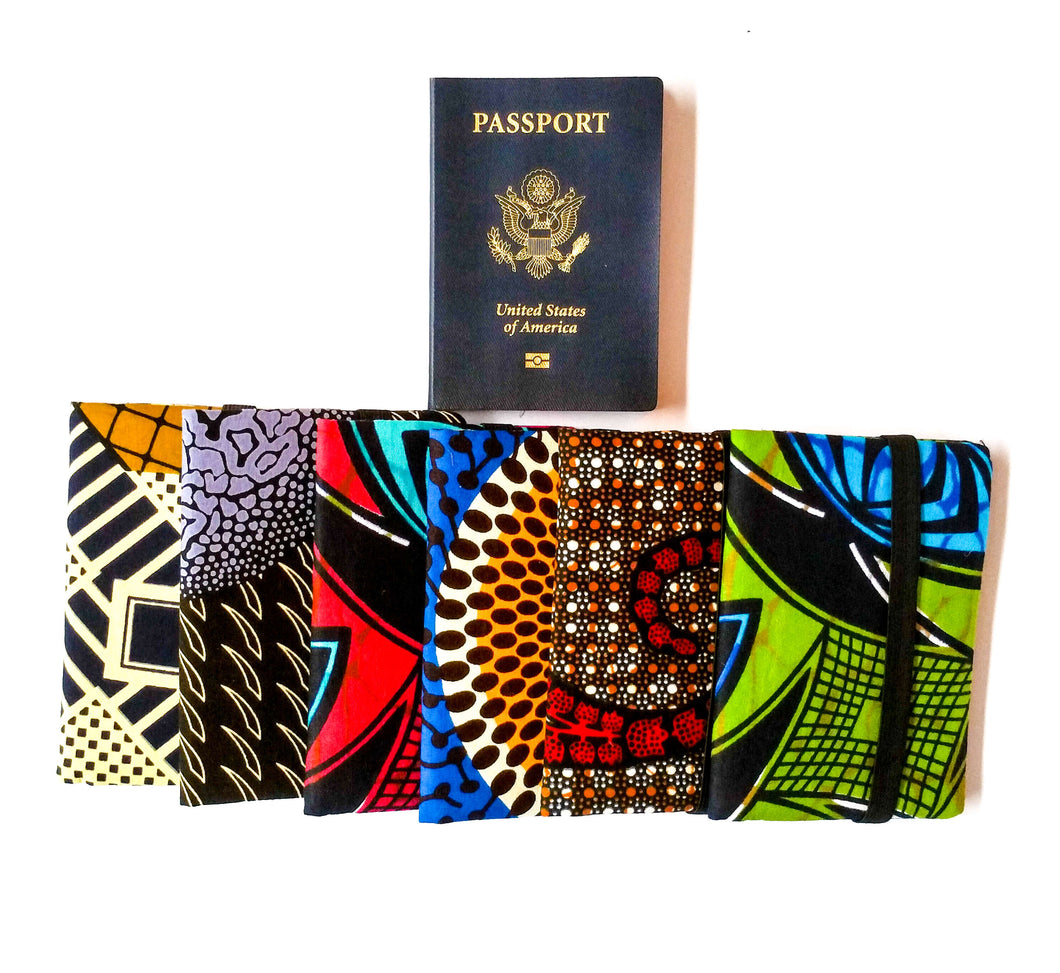 African Print Fabric Fabric Passport Covers