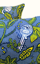 Lock & Key African Print Fabric Pillow Covers - Set of 2