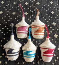 Red White African Ornaments