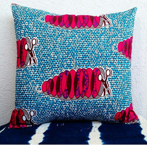 Scissors Ankara Fabric Pillow Covers - Set of 2