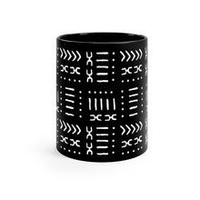 11 oz Black White Mud Cloth Pattern Ceramic Mug