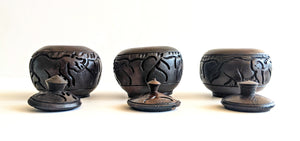 Hand Carved Wood Trinket Bowls