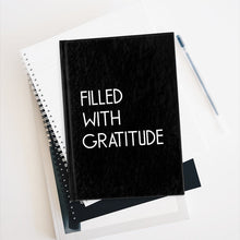Black Filled With Gratitude Lined Journal