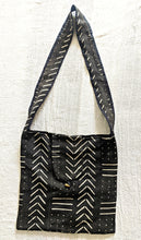 Black Mud Cloth Cross Body Bag