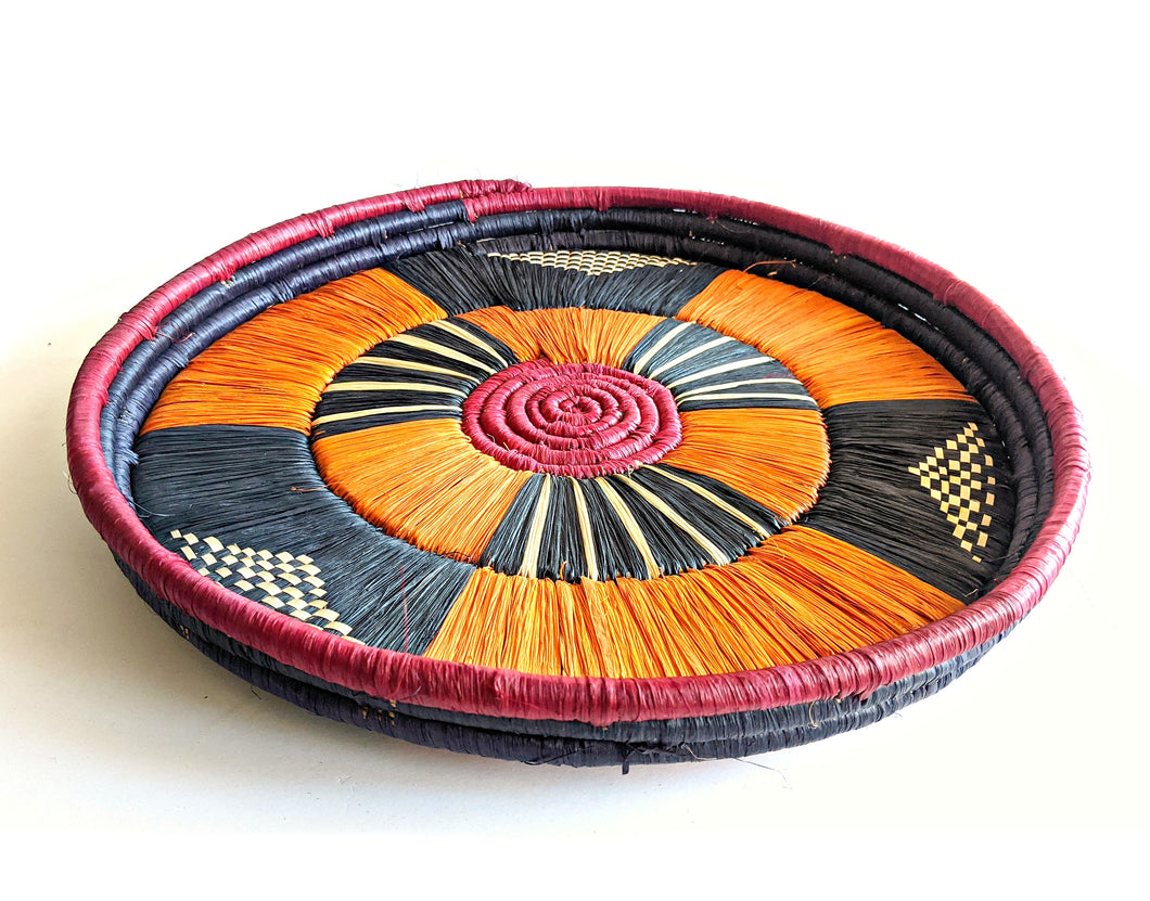 Black Burgundy Tanzania Serving Tray