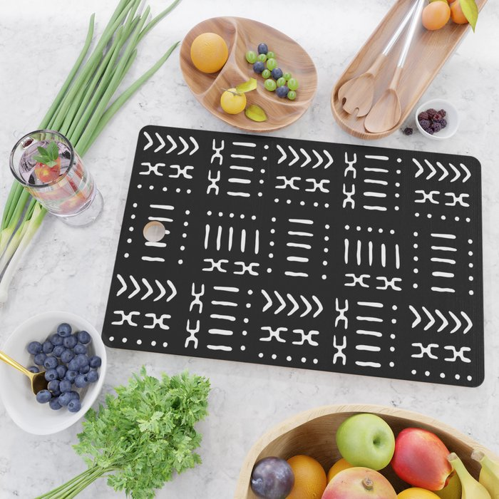 CLICK FOR PRICE & ORDER INSTRUCTIONS:Mud Cloth Pattern Cutting Boards