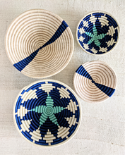 Blue White African Basket Set