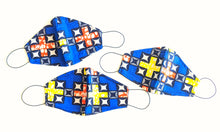 Blue Ankara Fabric Face Masks