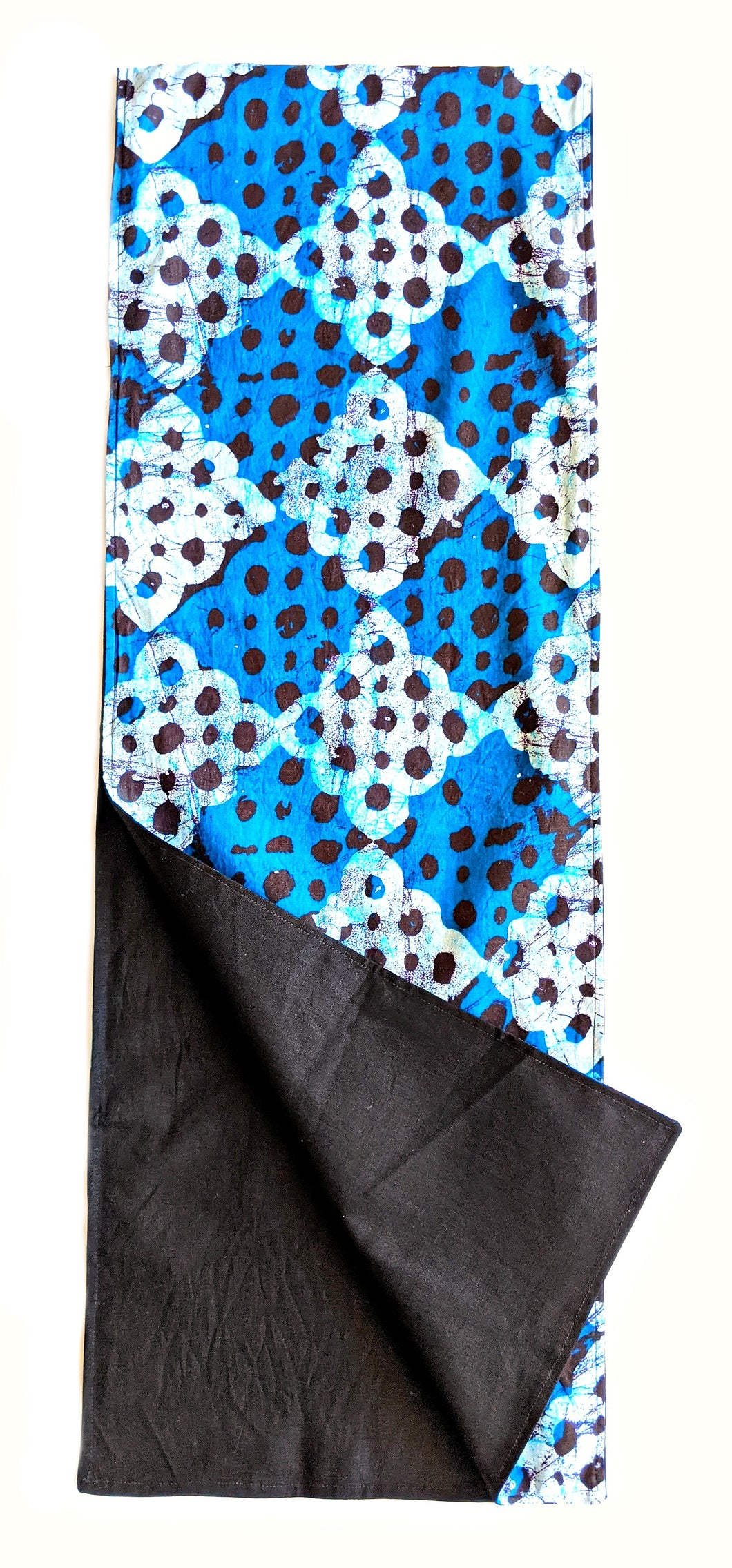 Blue Batik Ankara Fabric Table Runner