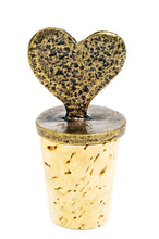 Brass Hearts Wine Bottle Cork Set