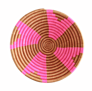 Pink Brown African Basket
