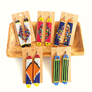 Colorful Maasai Bead Earrings 20