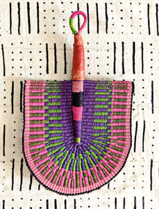 Pink Purple Woven Fan