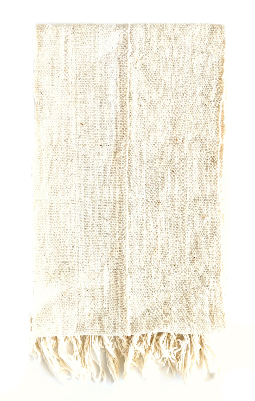 White Mud Cloth Scarf or Runner