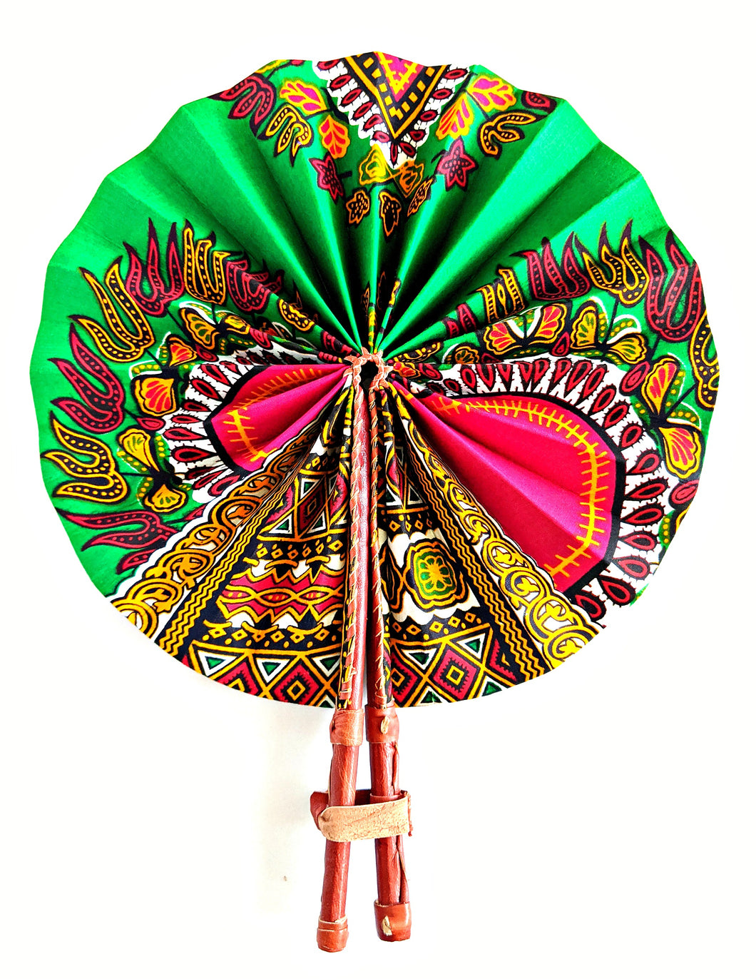 Green Dashiki Ankara Folding Fan