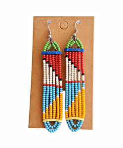 Colorful Maasai Bead Earrings 7