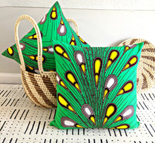 Green Ankara Fabric Pillow Covers