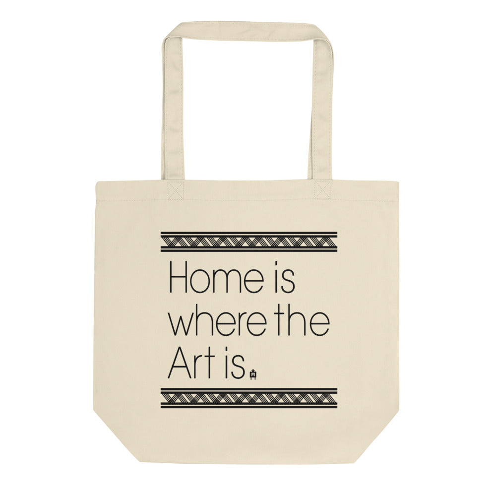 Home Is Where the Art Is Canvas Tote bag