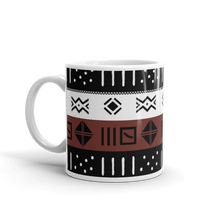11 oz Brown Mud Cloth Pattern Coffee Mug
