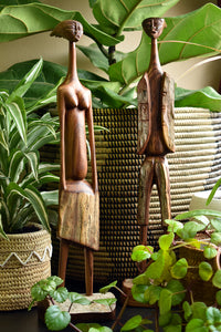 Kinfolk Sandalwood African Sculpture Set