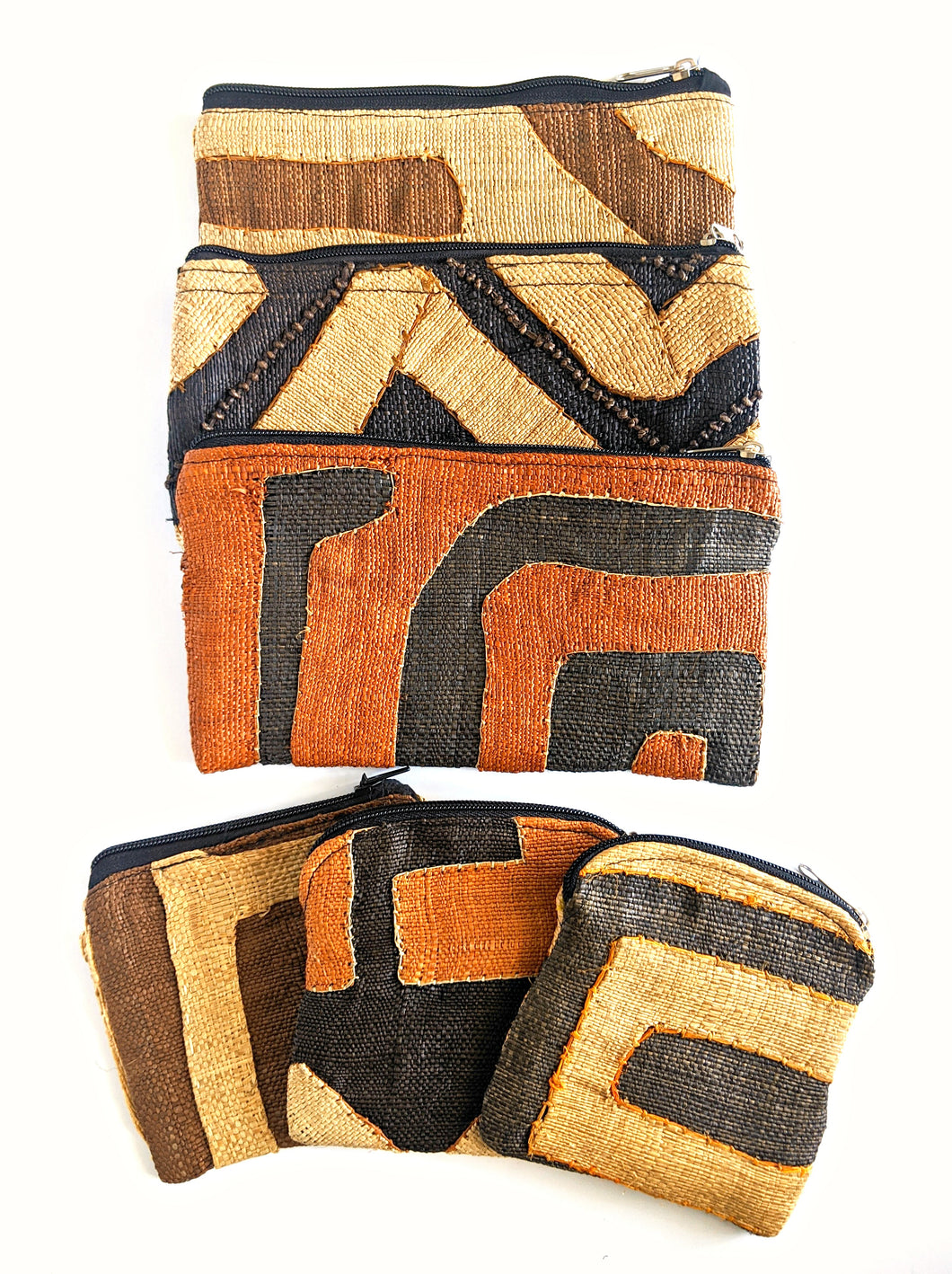 Kuba Cloth Coin Purse Bag Sets (Slight Imperfections)
