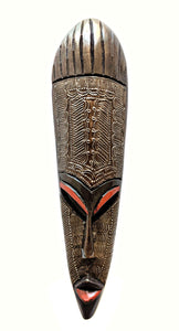 Wood Metal African Warrior Mask C