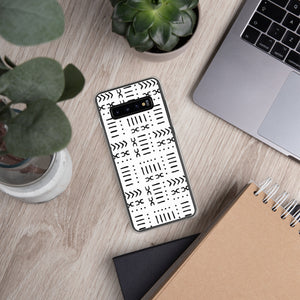 White Mud Cloth Samsung Phone Case