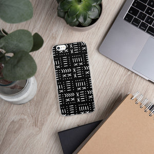 Black Mud Cloth iPhone Case