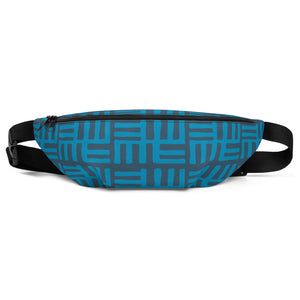 Blue African Pattern Fanny Pack