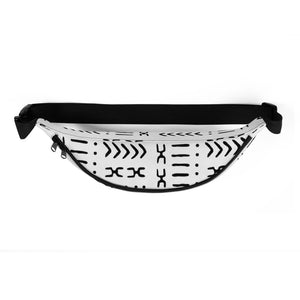 White Mud Cloth Fanny Pack